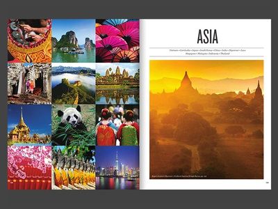 Catalog opening spread {Asia}