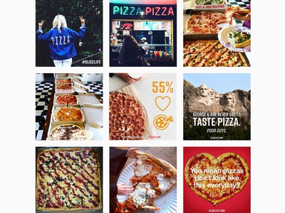 Slice Instagram Feed - post design + image curation