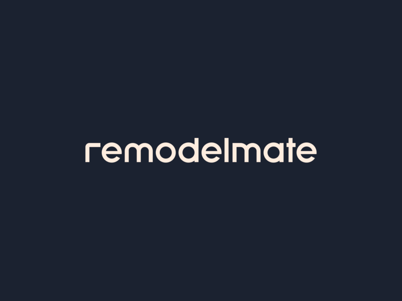 remodelmate open approachable friendly corporate branding logodesign process house remodeling renovations home branding logotype logo remodelmate