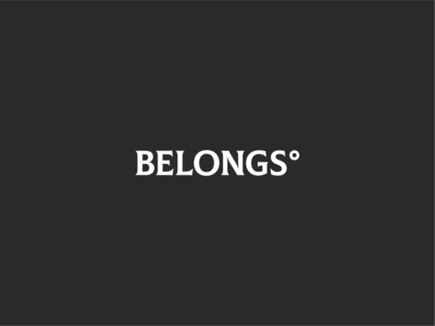 Belongs sophisticated strong gray symbol branding agency brown branding and identity brandmark typebrandmark leather logo branding