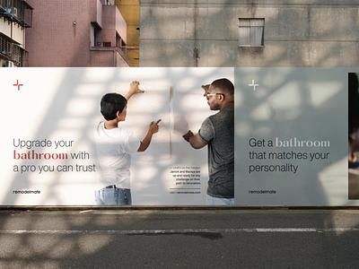 Remodelate Billboards home house remodeling renovate street social print billboard photography brand identity branding brand