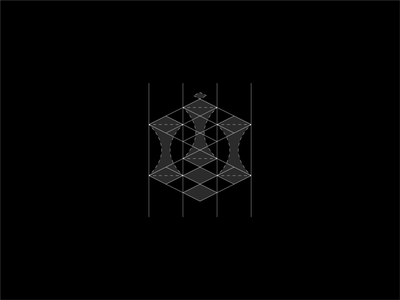 Chess logo brand identity identity queen play geometry sophisticated grid logo grid logo symbol logodesign branding game chessboard logo chess logo chess