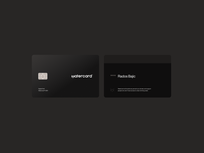 Watercard® — Credit Card plastic money transaction premium user branding and identity branding chip earth enviroment sustainable recycling material credit card