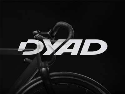 Dyad typography type strong moped hipster drive custom branding bold bike bicycle