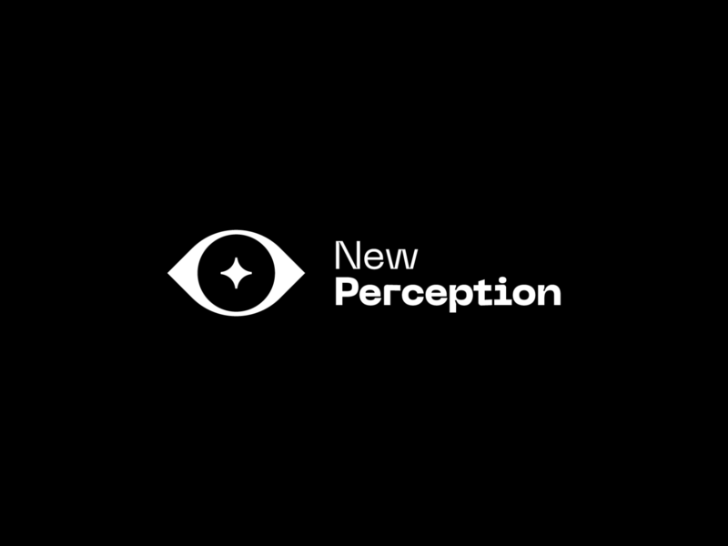 New Perception black and white star wisdom eye simple minimal black branding logo spiritual perception