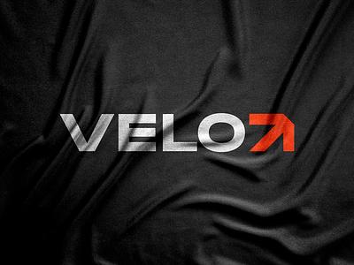 VeloAthletics velocity passion arrow orange strong workout gym fit black storytelling logo designer poster print logo design branding corporate identity brand identity