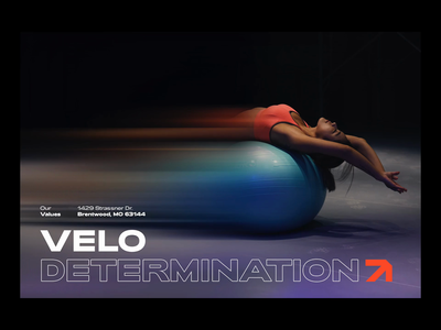 Velo values gym workout fitness branding and identity corporate identity banners branding velo