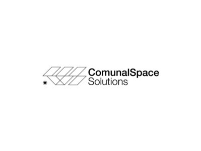 Comunal Space Solutions swiss bold strong snowflake startup monochrome black logo logodesign identity brandidentity corporate realestate storage renovations architecture space