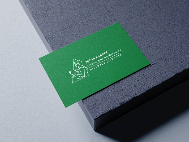COYC Case study print businesscard outline bird winner diamond green youth school business serbia belgrade logodesign logo branding alumni coyc