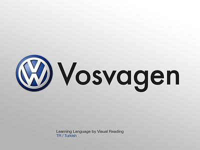Vosvagen Logo visual learning learn language turkish media vosvagen vosvi wv volkswagen