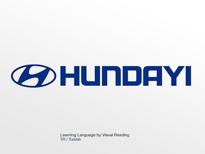 Hundayi Logo visual learning learn language turkish hundayi media car hyundai