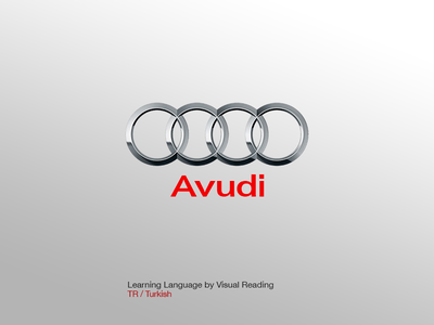 Avudi Logo visual learning learn language turkish avudi media car audi