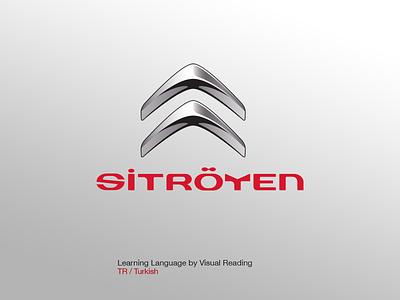 Sitröyen Logo visual learning learn language turkish sitröyen media car citroen