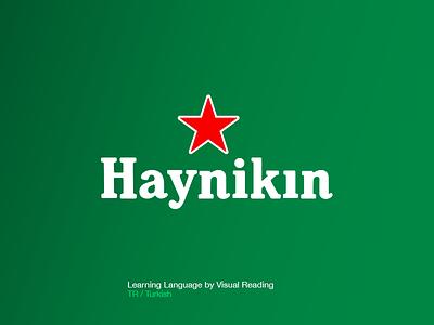 Haynikın Logo visual learning learn language turkish haynıkin media car heineken