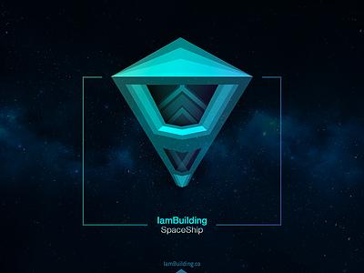 IamBuilding: Spaceship space 3d robot mask vector spaceship iambuilding