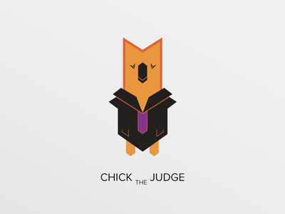 Chick The Judge character design relief judge chicken chick