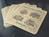 Save the Date - Letterpressed Coasters