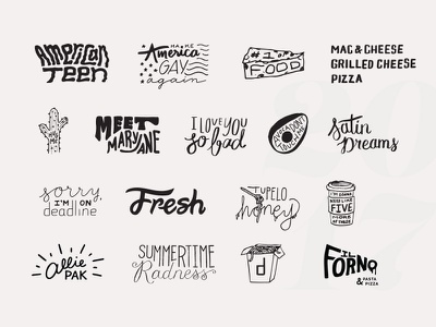 2017 Lettering Review hand drawn hand lettering type illustration typography lettering