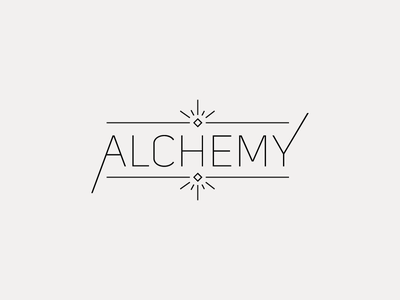 Alchemy Logo illustration logo design logotype branding brand typography logomark logo