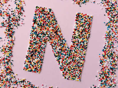 36 Days of Type – N food typography food typography food type food lettering 36 days of type sprinkles hand lettering lettering