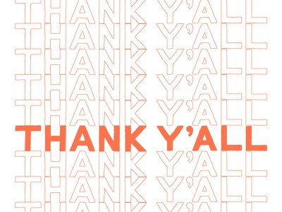 Thank Y'all typography hand drawn thank you hand lettering lettering
