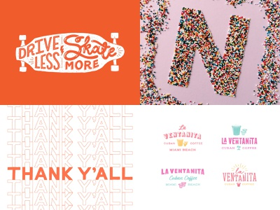 Top Four 2018 miami coffee restaurant 36 days of type sprinkles food lettering logo design type food logo branding illustration hand lettering typography lettering