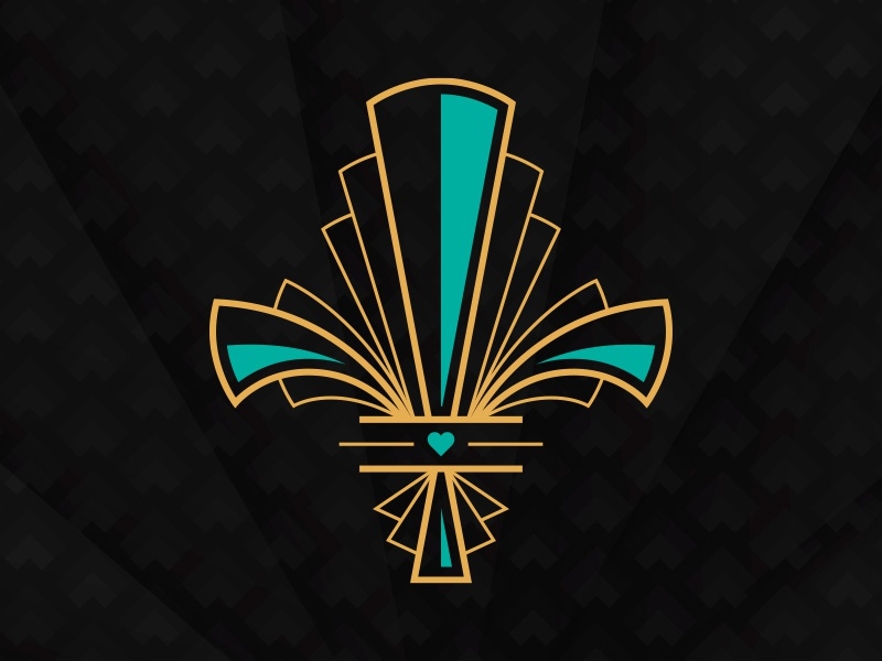 Art Deco Fleur De Lis By Justin Striebel Dribbble Dribbble