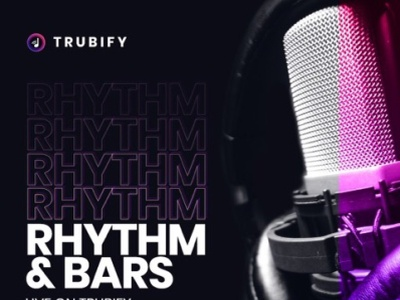 A night I host and run and promote on Trubify shows concerts streaming graphic design ux vector ui promotion music logo illustration design branding app