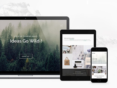 Theme Presentation ui mountain macbook iphone ipad theme mockup wordpress
