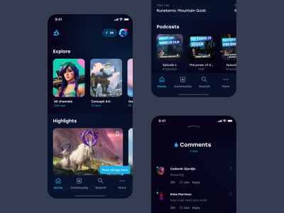 Artstation – Mobile application concept concept ui product concept concept mobile application artstation concept mobile homepage homepage explore mobile app concept mobile app design mobile app mobile ui home feed feed home artstation