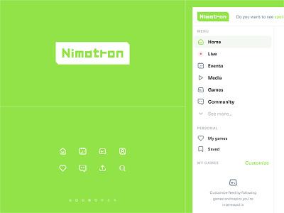 Nimatron – Logo concept interface mobile app web app ui web concept esports esportlogo games esport e-sport game nimatron product concept product
