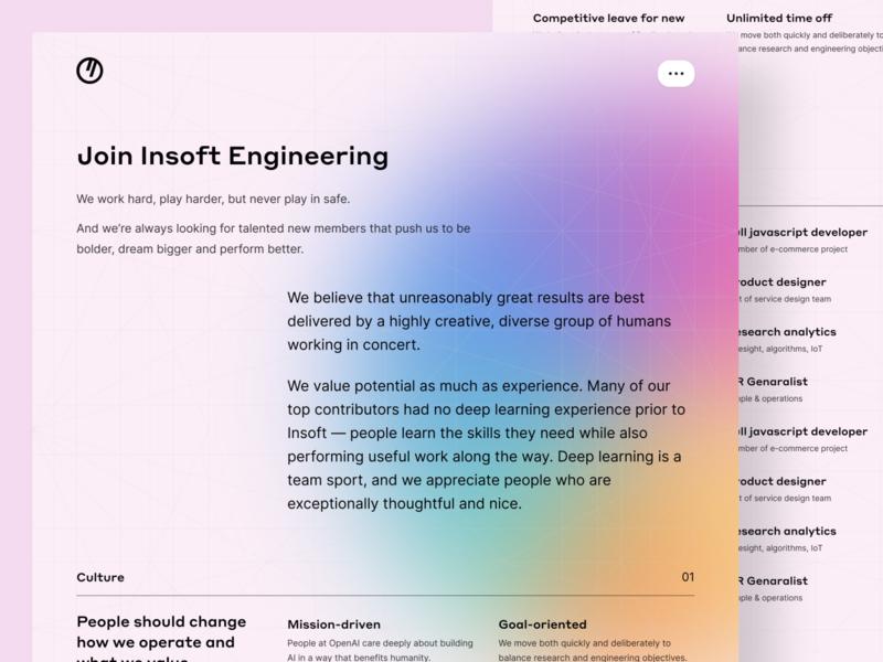 Insoft – Careers page web design web page webdesign job board portfolio jobs career page job careers career accordion web