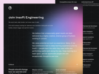 Insoft – Careers page in dark