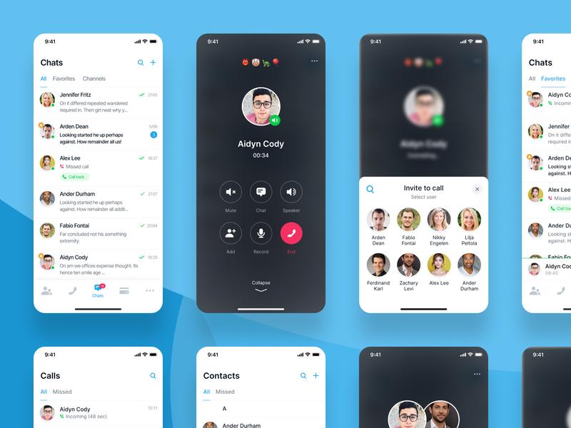 Telegram Calls Concept voice message voice search voice interface voice call telegram concept telegram mobile concept mobile app product mobile interface figma contacts chat telegram ui call ui calls