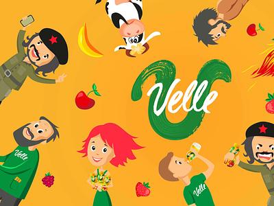 Velle presentations flat vector presentation design illustration graphic design branding