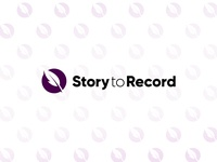 Story feather pen quill logodesign logotype record story branding design logo