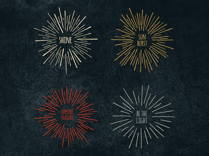 Sunbursts sunburst vector graphic sun burst star starburst line drawing sketch hand drawn