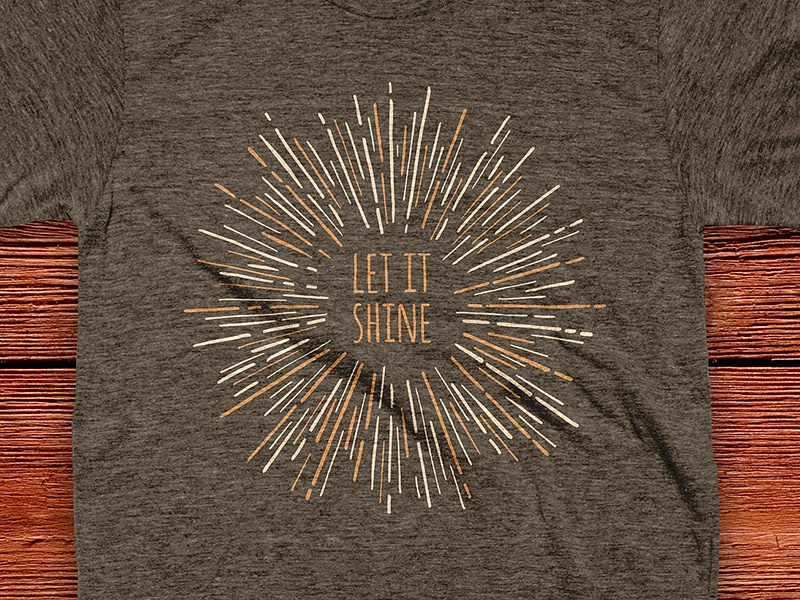 Let it Shine t-shirt shine let let it shine tshirt cotton bureau inspiration quite sunburst starburst burst sun light