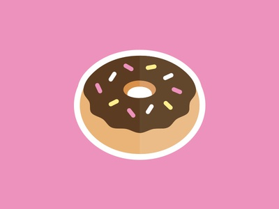 Donut illustration vector frosted dunkin donut day pastry food pink bakery baked donut