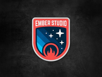 Mission Patch galaxy star space vector graphic studio ember emblem badge patch mission