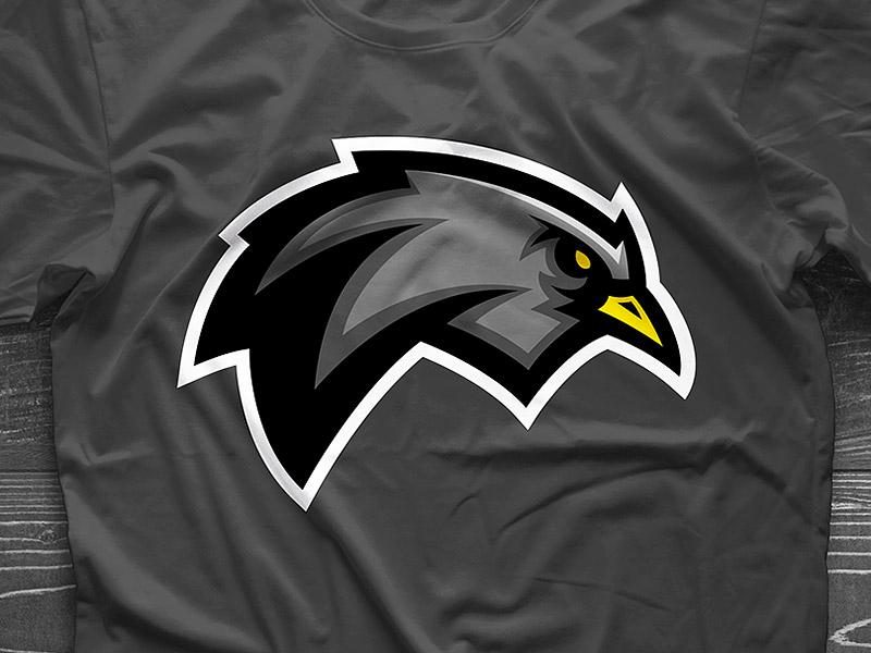 Blackbird design graphic team sports mascot logo bird black blackbird