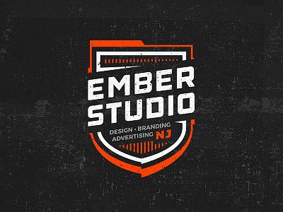 Ember Badge vector coat of arms crest nj agency design studio ember emblem shield badge