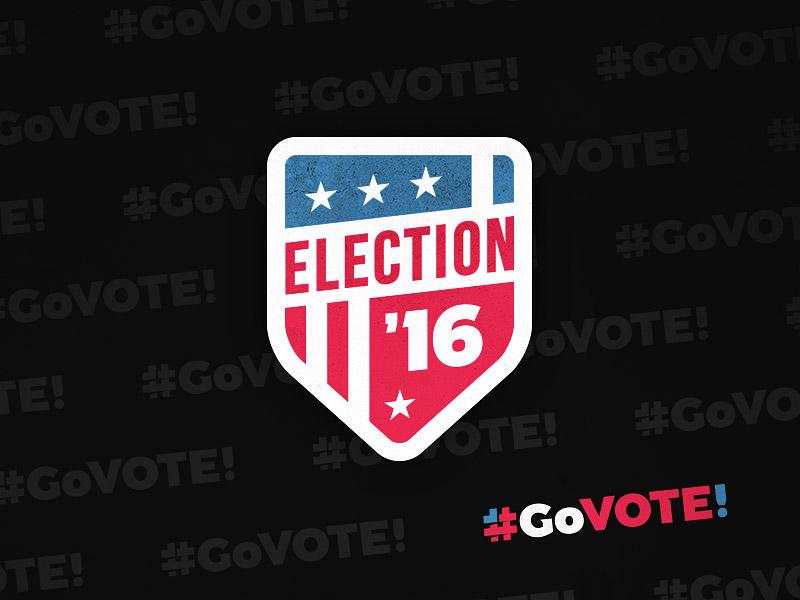 #GoVOTE! elect president campaign shield flag american politics emblem badge vote election