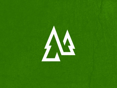 Forestry Co logo christmas evergreen pine tree land management woods forestry forest