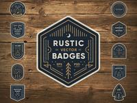 Rustic Badges