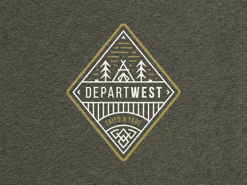 DEPARTWEST Tried & True Graphic diamond tried  true departwest tent camping badge illustration vector graphic t-shirt apparel