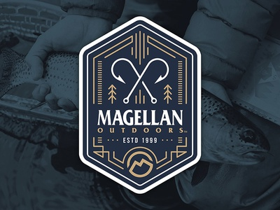 Magellan Outdoors Badge outdoors hook fishing magellan graphic badge