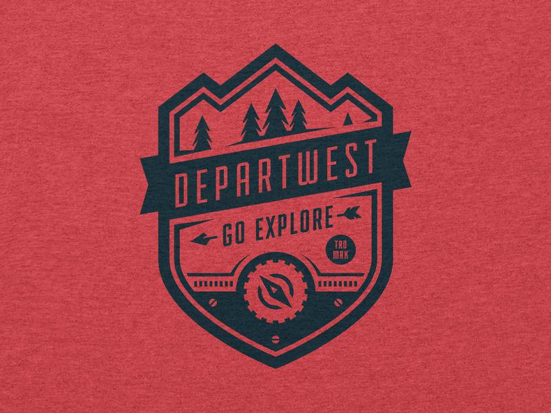 Gear Badge vector departwest badge logo badge design woods explore badge gear