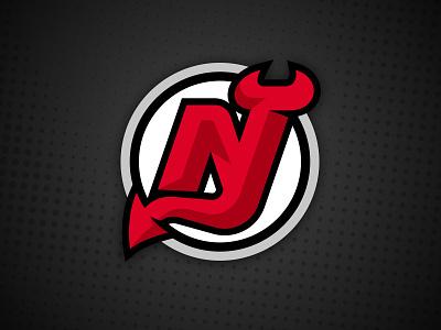 New Jersey Devils Logo Concept vector devil horns logo jersey ice team sports branding unofficial concept nhl hockey new jersey nj devil devils