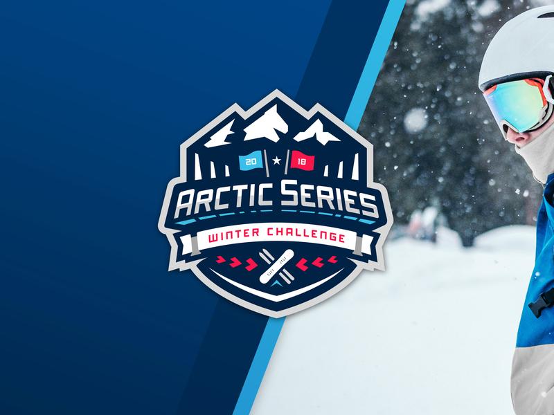 Arctic Series badge mountain snow skiing snowboarding winter branding sports emblem logo series arctic